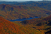 Fall Photographs Prints - A Jewel On The Smokies Print by Skip Willits