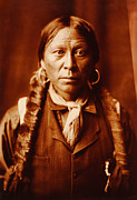 Edward Curtis Framed Prints - A Jicarilla Man Native American  Framed Print by Edward S Curtis