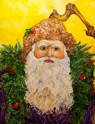Santa Paintings - A Jolly Ol Fella  by Rick Adkins