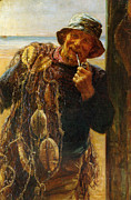 Smoker Digital Art Prints - A Jovial Fisherman Print by Fred Morgan