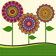 Daisy Posters - A Kaleidoscope of Flowers Poster by Amy Cicconi