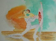 Ballet Originals - A kiss in Ballet  by Geeta Biswas