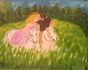 Brindha Naveen - A kiss - On horseback