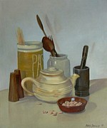 Teapot Painting Originals - A kitchen picture by Marie Dunkley