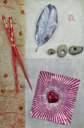 Fabric Collage Prints - A la carte Print by Elena Nosyreva