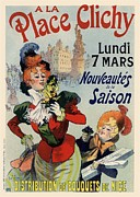 Belle Epoque Framed Prints - A la Place Clichy Framed Print by Sanely Great