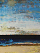 Sea Scape Paintings - A la Plage Cropped by Sean Hagan