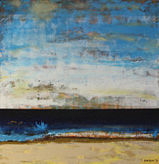 Sea Scape Paintings - A la Plage by Sean Hagan