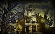 Haunted House Digital Art Metal Prints - a la van Gogh Metal Print by Gun Legler