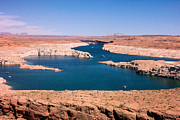 Power Plants Posters - A Lake Powell landscape veiw  Poster by Laura Smith