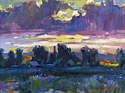 David Lloyd Glover - A Late Afternoon Sky Plein Air