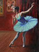 Ballet Dancers Painting Framed Prints - A Legacy of Elegance Framed Print by Anna Bain