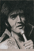 Singer Drawings - A Legendary Performer by Rob De Vries
