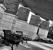 Decorative Benches Photo Acrylic Prints - A Leisurely Walk Acrylic Print by Tom Druin