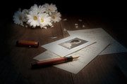 Daisy Metal Prints - A Letter from Mary Still Life Metal Print by Tom Mc Nemar