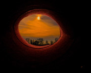 Landscape Framed Prints Mixed Media Posters - A Light At The End Of The Tunnel Poster by Gerlinde Keating - Keating Associates Inc