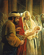 Baby Jesus Paintings - A Light to the Gentiles by Greg Olsen