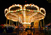 Downtown Disney Photos - A little Carousel by David Lee Thompson
