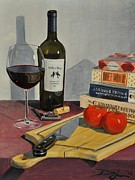 Cork Screw Paintings - A Little for the Cook by David Larsen