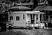 Christopher Holmes Photo Metal Prints - A Little Home on the Water - BW Metal Print by Christopher Holmes