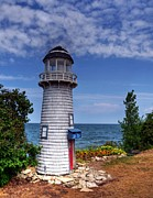 Mailboxes Photos - A Little Lighthouse by Mel Steinhauer