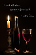 Wine Bottle Photography Posters - A little wine Poster by Bill  Wakeley