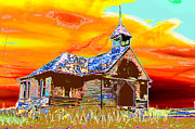 Old School House Digital Art - A Long Recess by Candice Floyd