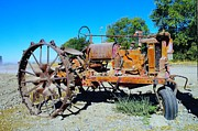 Old Tractors Photos - A Long Right Hand Turn  by Jeff  Swan