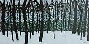 Winter Storm Painting Metal Prints - A Long Winter Metal Print by Pamela White