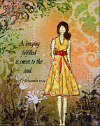 Christian Mixed Media Posters - A Longing Fulfilled Poster by Janelle Nichol