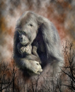 Gorilla Mixed Media Posters - A Love So Grand Poster by Carol Cavalaris