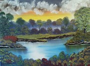 A Lovely Day In The Shenandoah Print by Lee Bowman
