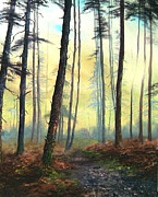 Woodpeckers Paintings - A Lovely Walk on Cannock Chase by Jean Walker