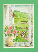 Good Luck Painting Prints - A Lucky View Print by Lynn Bywaters