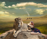 Imagination Posters - A Magnificent Friendship Poster by Linda Lees