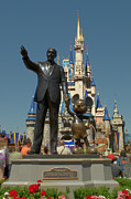 Walt Disney World Florida Art - A man a mouse a dream by Ryan Crane