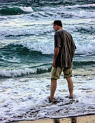 a Man and the Sea Print by Ginette Fine Art LLC Ginette Callaway