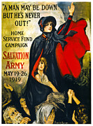 Doughboy Posters - A Man May Be Down . . .   1919 Poster by Daniel Hagerman