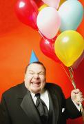 Special Occasion Photos - A Man With Balloons by Darren Greenwood
