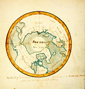 The Americas Paintings - A Map of the Countries situate about the North Pole as far as the 50th degree of north latitude ca by MotionAge Art and Design - Ahmet Asar