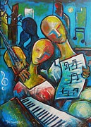 Melody Painting Originals - A Melody for Two by Damien Cruz