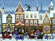 Toy Store Painting Framed Prints - A Merry Christmas Framed Print by Merry  Kohn Buvia