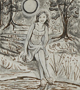 Play Drawings - A Midsummer Nights Dream Play by Stella Sherman