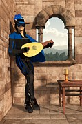 Daniel Framed Prints - A Minstrel Named Rynstrel. Framed Print by Daniel Eskridge