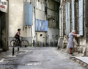 Ladies Bike Photos - A Moment in Arles by Jennie Breeze