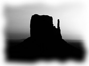 Black And White Photography Mixed Media - A Monumental Silhouette 2 BW by Mel Steinhauer