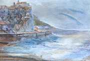 A Morning At The Sea Side Print by Theo Brush