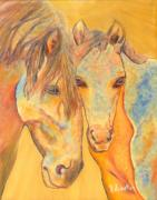Horses On Sale Framed Prints - A mothers love Framed Print by Jodie  Scheller