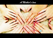 Universal Mother Framed Prints - A Mothers Love Framed Print by Michelle Frizzell-Thompson