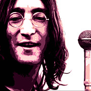 Musicans Prints - A Myth of Peace Series 1 lennon1 Print by Joel Loftus